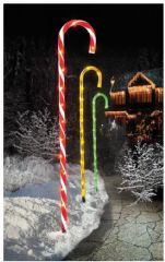 PREMIER LV161495  62Cm 4Pc Candy Cane Path Lt 40 Multi Led